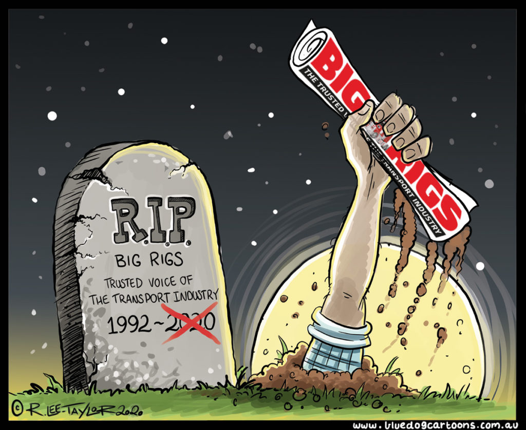 Big-Rigs-is-back---Blue-Dog-Cartoons-Issue-18-2020