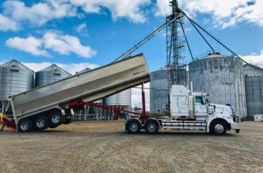 Brad Jackson, who drives his father's 2009 T658 Kenworth, was carting lentils into Minyip, Victoria
