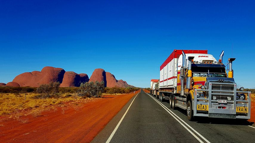 Stephen Rogan, who drives this Western Star for Neil Mansell Transport in Queensland, captured this while driving past the Olgas in NT, around 40km west of Uluru
